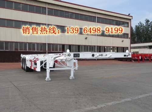 5米骨架挂车手续价格_15米集装箱运输车