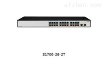 华为HUAWEI S1700-26R-2T-AC 24口百兆交换机+2千兆口 机架