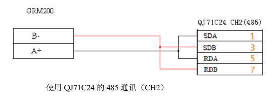 三菱plc一fx2n一2da电路图