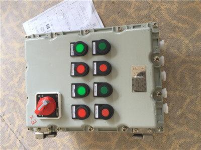 防爆启停控制箱可控制交流50hz,380v三相异步电动机的直接起动,停止