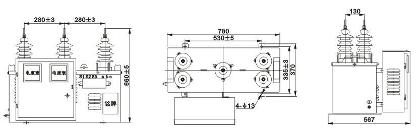 10组合互感器接线原理图