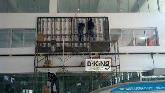 led显示屏 户外p6 户外室内led全彩广告显示屏及广场电视  钢架立柱式