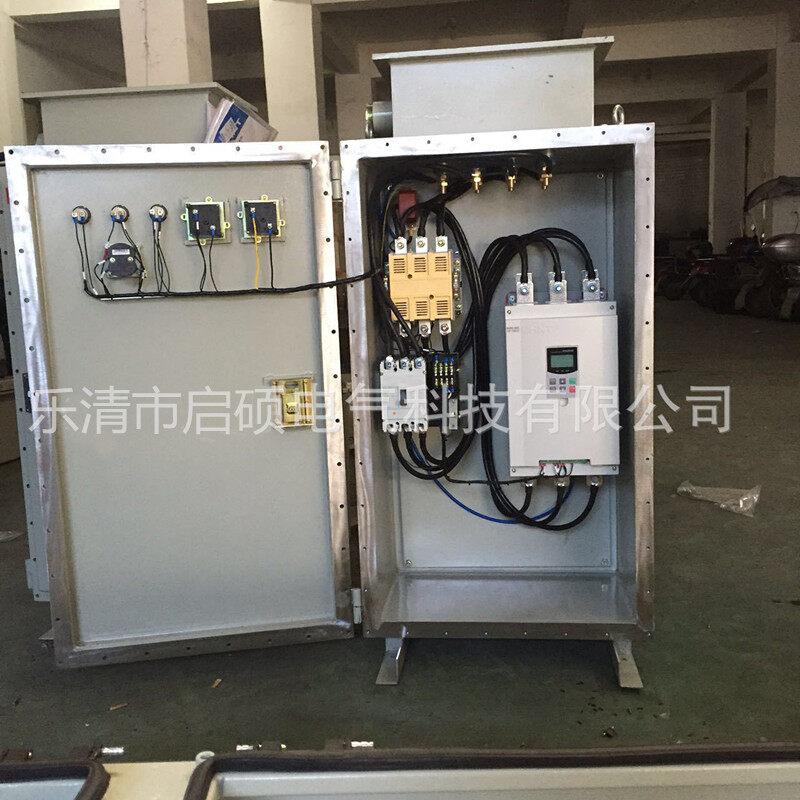 BQX-45KW防爆星三角启动器 BQX-45KW防爆星三角启动器参数 型号:BQX-13 额定电流:26A 控制电动机功率:12KW 热继电器整定电流15A 型号:BQX-17 额定电流:33A 控制电动机功率:17KW 热继电器整定电流19A 型号:BQX-22 额定电流:42.5A 控制电动机功率:22KW 热继电器整定电流25A 型号:BQx-30 额定电流:58A 控制电动机功率:30KW 热继电器整定电流34A 型号:BQX-40 额定电流:77A 控制电动机功率:40KW 热继电器整定电流