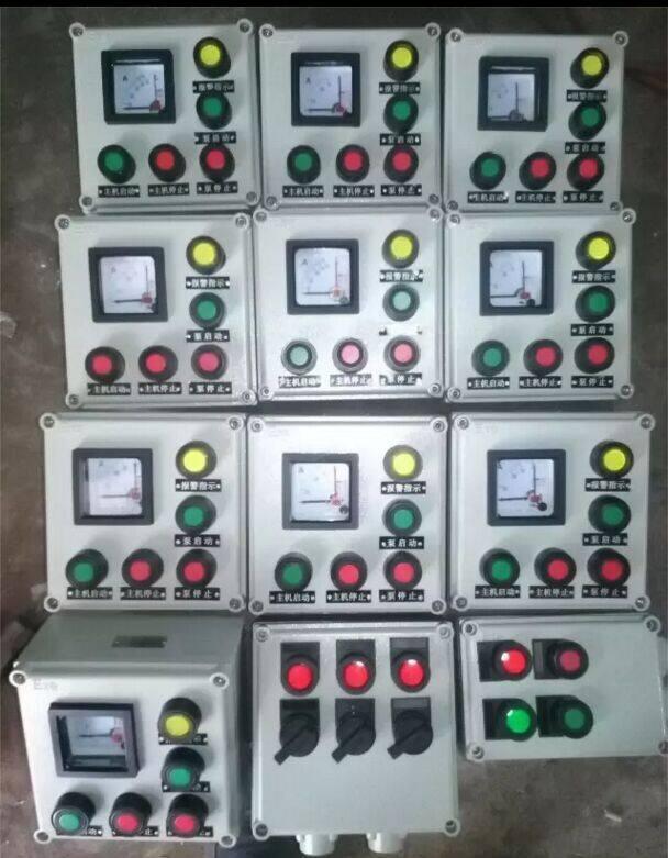 1.执行标准:GB3836.1、GB3836.2、GB3836.3、GB12476.1、IEC60079 2.防爆标志: Exd II CT6 3.额定电压:AC220/380V 4.主回路额定电流:10-400A 5.防护等级: IP65(IIC) 6.防腐等级:WF2 四、户外BXM(D)8030防爆防腐照明动力配电箱/下进下出订货须知 用户在订货时,须注明配电箱的回路数,各回路相应的是电流以及断路器的级数,若须带漏电功能,则还需注明,若需带总开关则请注明总开关的电流及级数,并注明进出线方向,进出线规